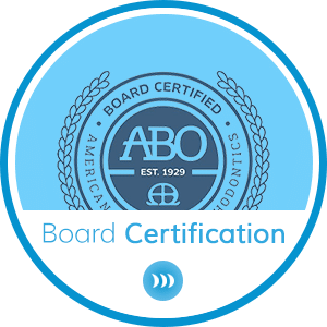 Board Certification Horizontal Button at Britto Orthodontics in Chantilly and Woodbridge VA